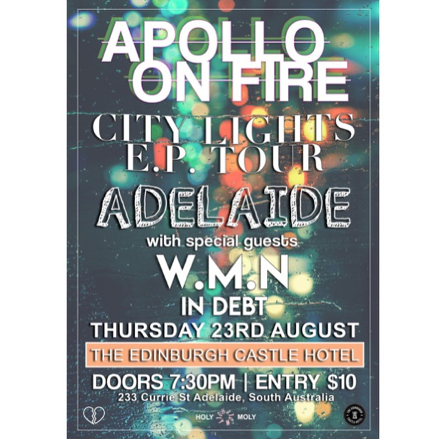Two shows this week. Adelaide on Thursday night at @edcastlehotel w/ @wmnmusic & @indebtofficial. Melbourne on Friday night at @thelastchancerockandrollbar w/ @kodiakgalaxy & @bodycorporateonline.  #citylights #eptour #tour #livemusic #shows #gigs #adelaide #melbourne #music