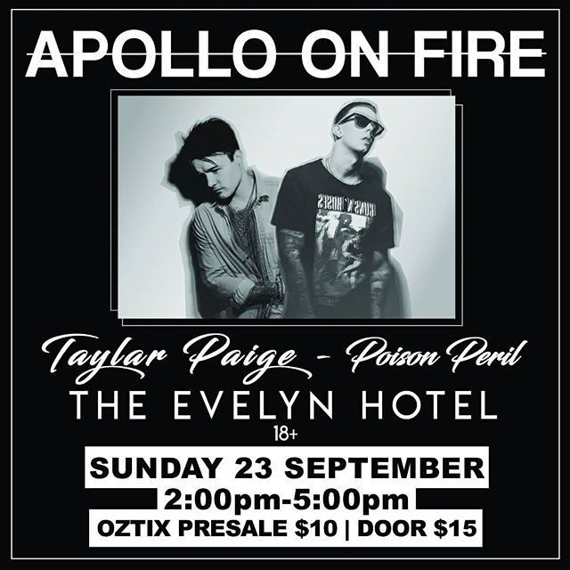 Full line up is here! We have @poisonperil Kicking it off followed by @taylarpaige. Grab your tickets now!  Ticket link in bio 🎸 . . . . . . . . . . . . . . . . . . . . . . #LANY #palewaves #the1975 #Melbourne #theevelynhotel #guitar #darkpop #dreampop