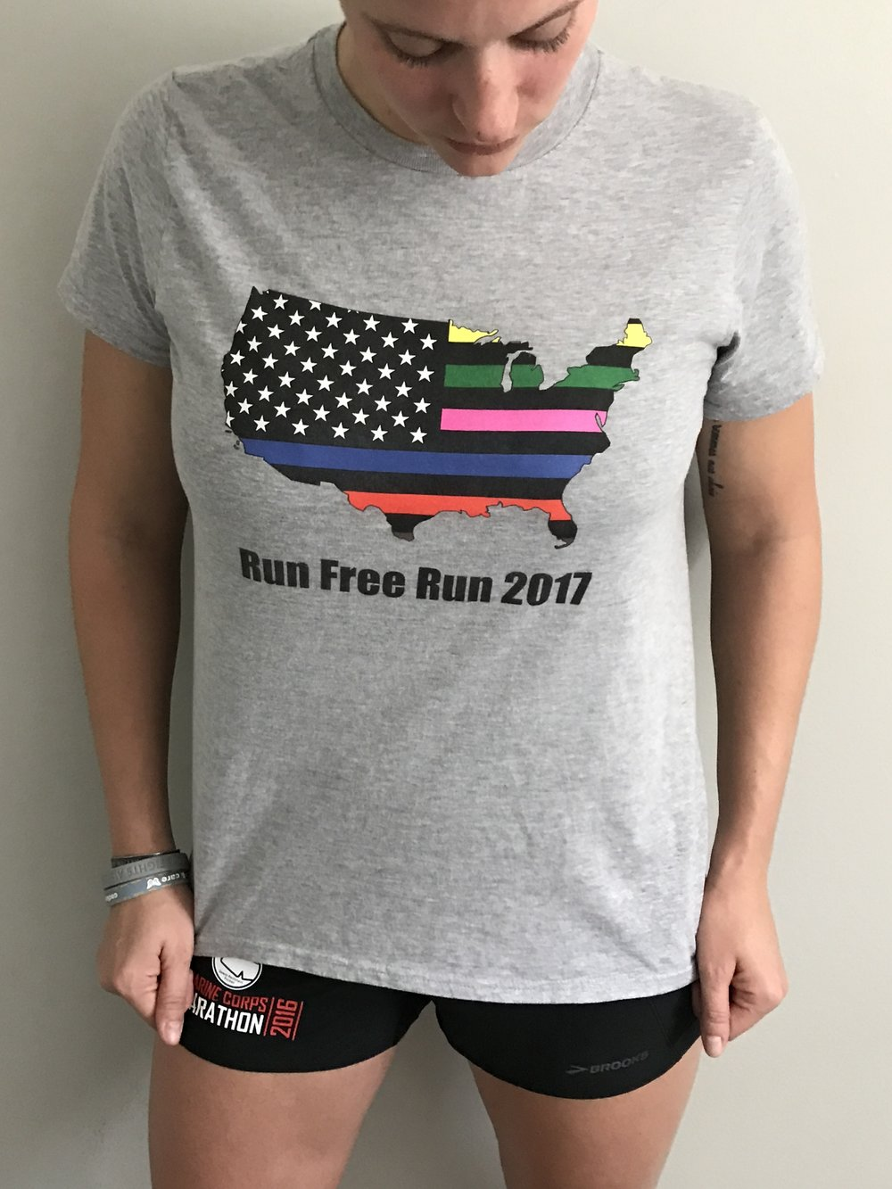 Run Free USA Tee (Anvil) $25