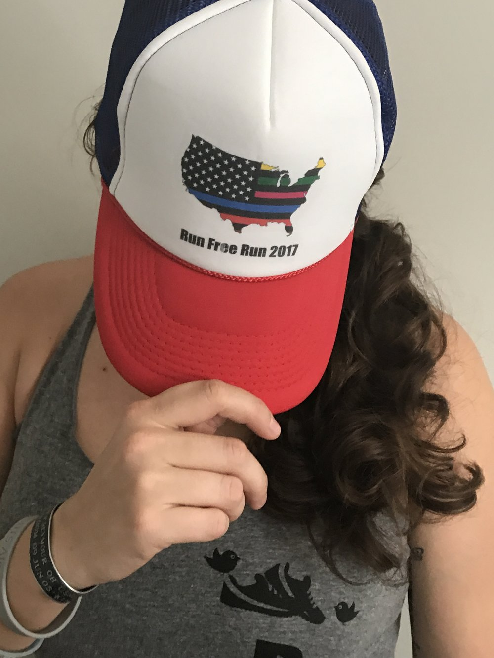 RWB Run Free USA Hat $15