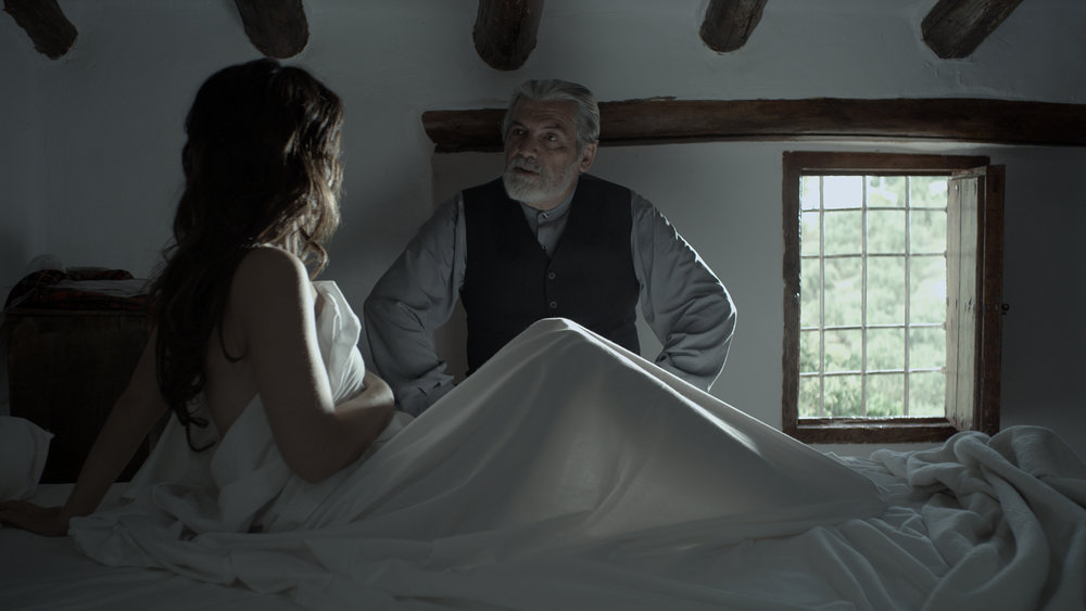 "A frame from ""LA AMA"", with Antonio Mayans and Cristina Mediero."