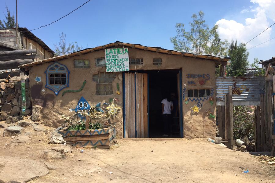 Visita a la Colonia Ecológica Jardines de la Mintzita.   Visit to the Jardines de la Mintzita Ecological Community.