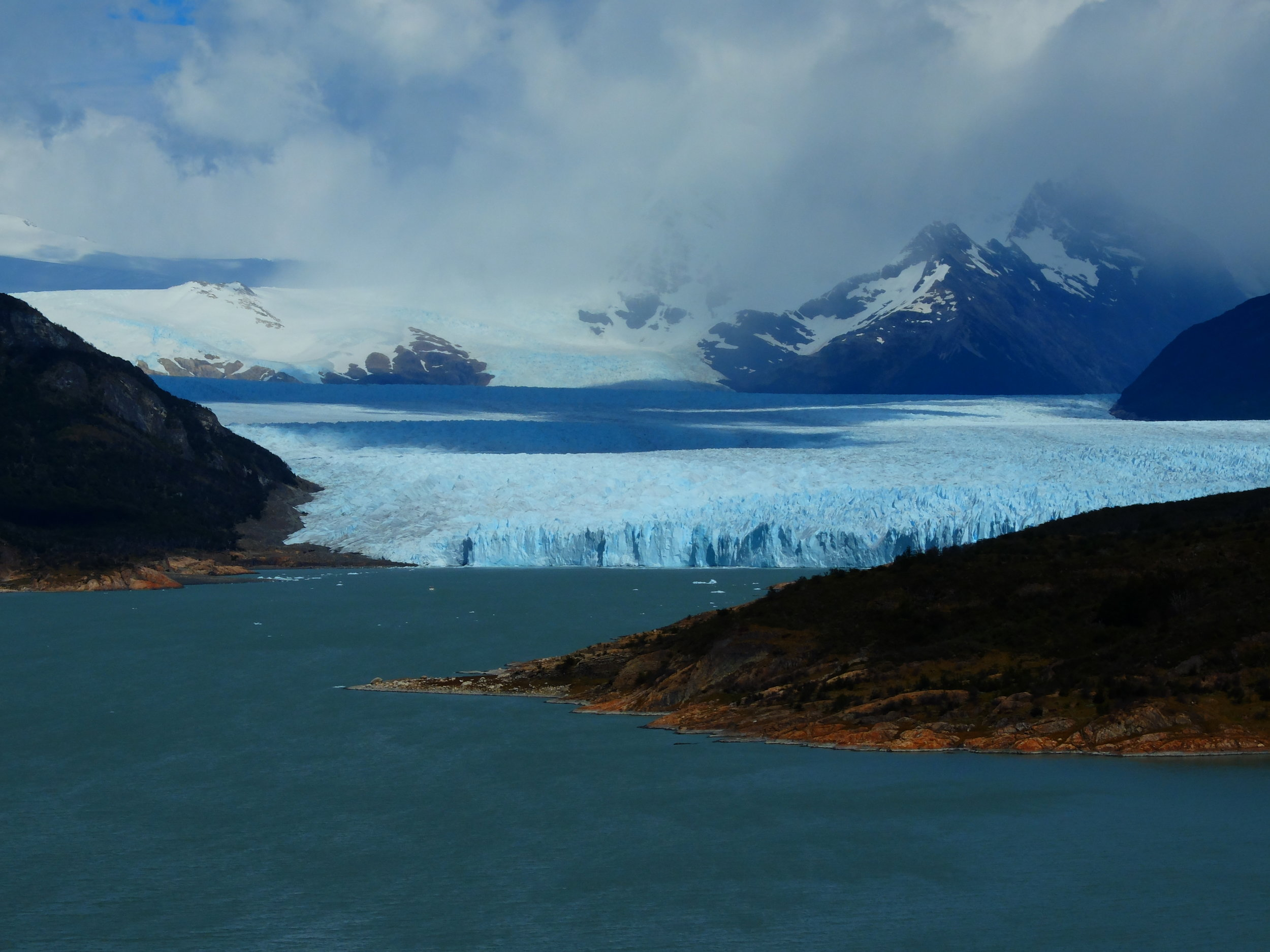 First sighting of the glacier.