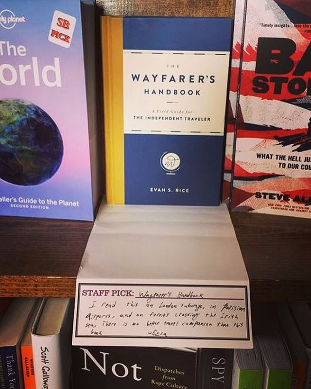 Big shoutout to Snowbound Books in Marquette, Michigan!!! Really appreciate the support. Ezra, you have excellent taste! - - - - #thewayfarershandbook #snowboundbooks #upperpeninsula #indiebookstore