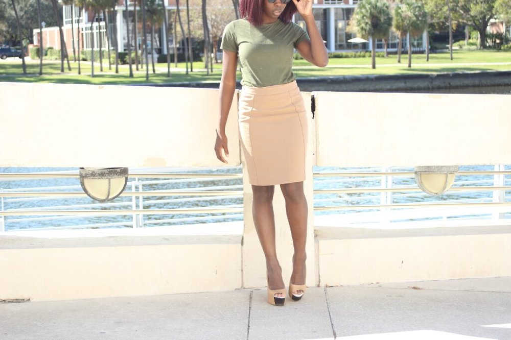 Top (It's a Dress: REHAB in Los Angeles | Skirt: Nordstrom | Shoes: Hope's
