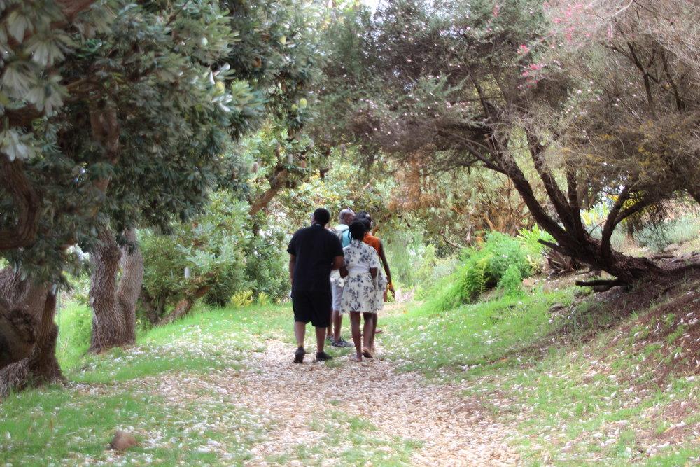 Our family walk at Ali'i Kula Lavender Farm in Maui, Hawaii