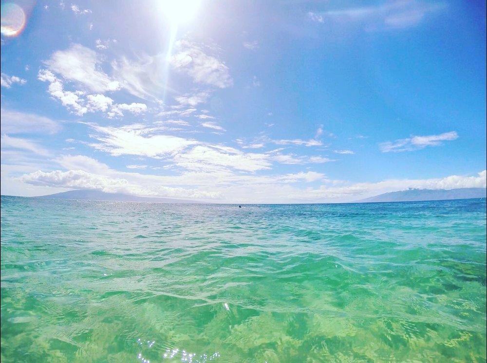 Photo of Kā'anapali Beach taken with my GoPro