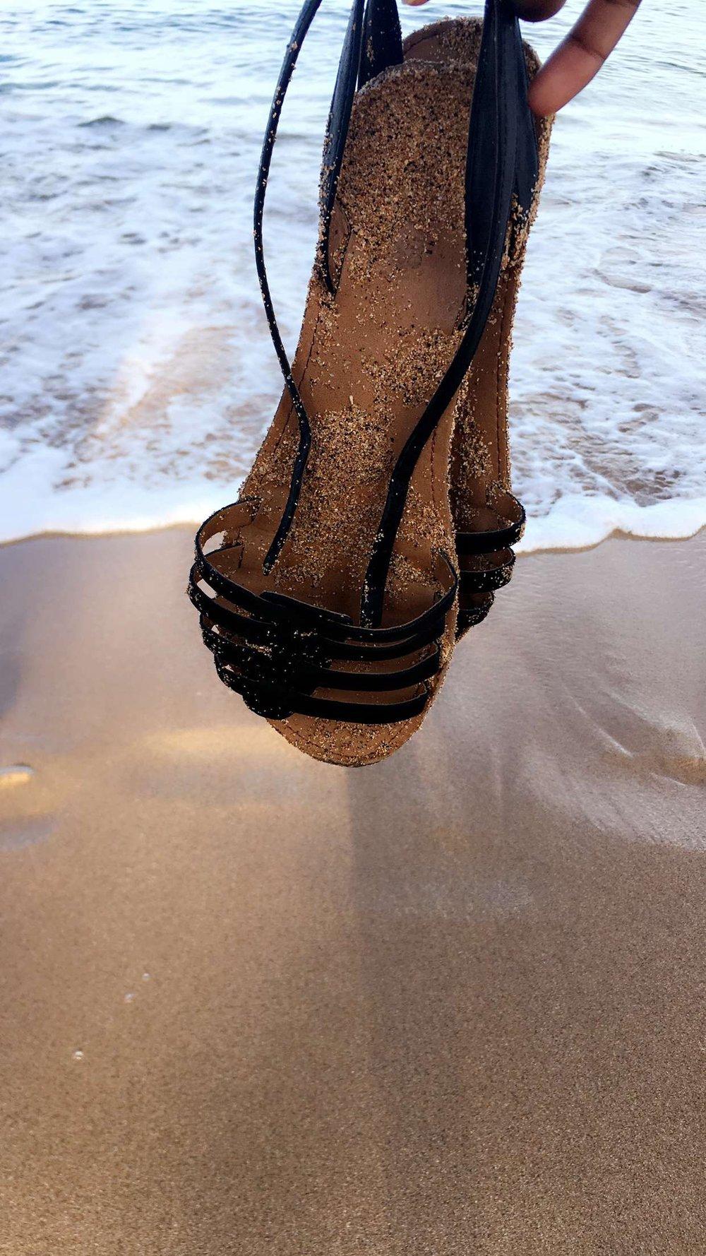 Sandy Sandals on Kā'anapali Beach Sandals