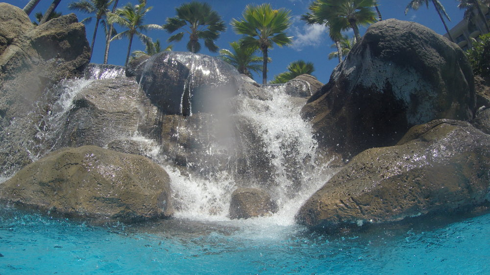 Waterfall in the Pool at the Westin Maui Resort and Spa