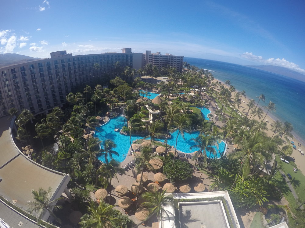 Our view from our balacony at the Westin Maui Resort and Spa