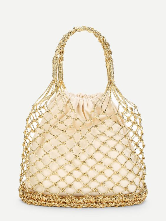 Double Handle Metallic Woven Bag.jpg