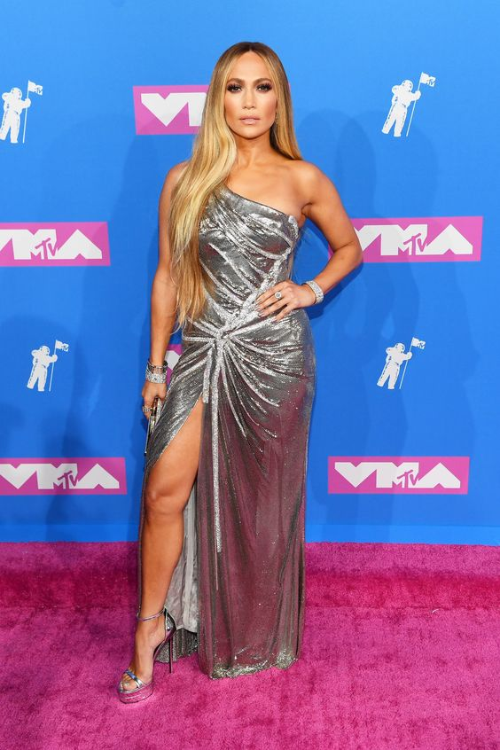 Jennifer Lopez at the 2018 VMA's on the Red Carpet