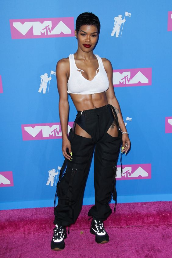 Teyana Taylor at the 2018 VMAs