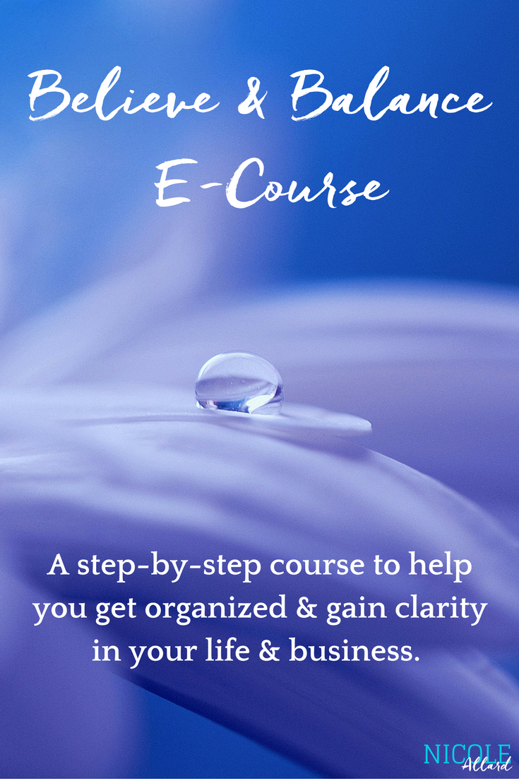 Believe & Balance E-Course