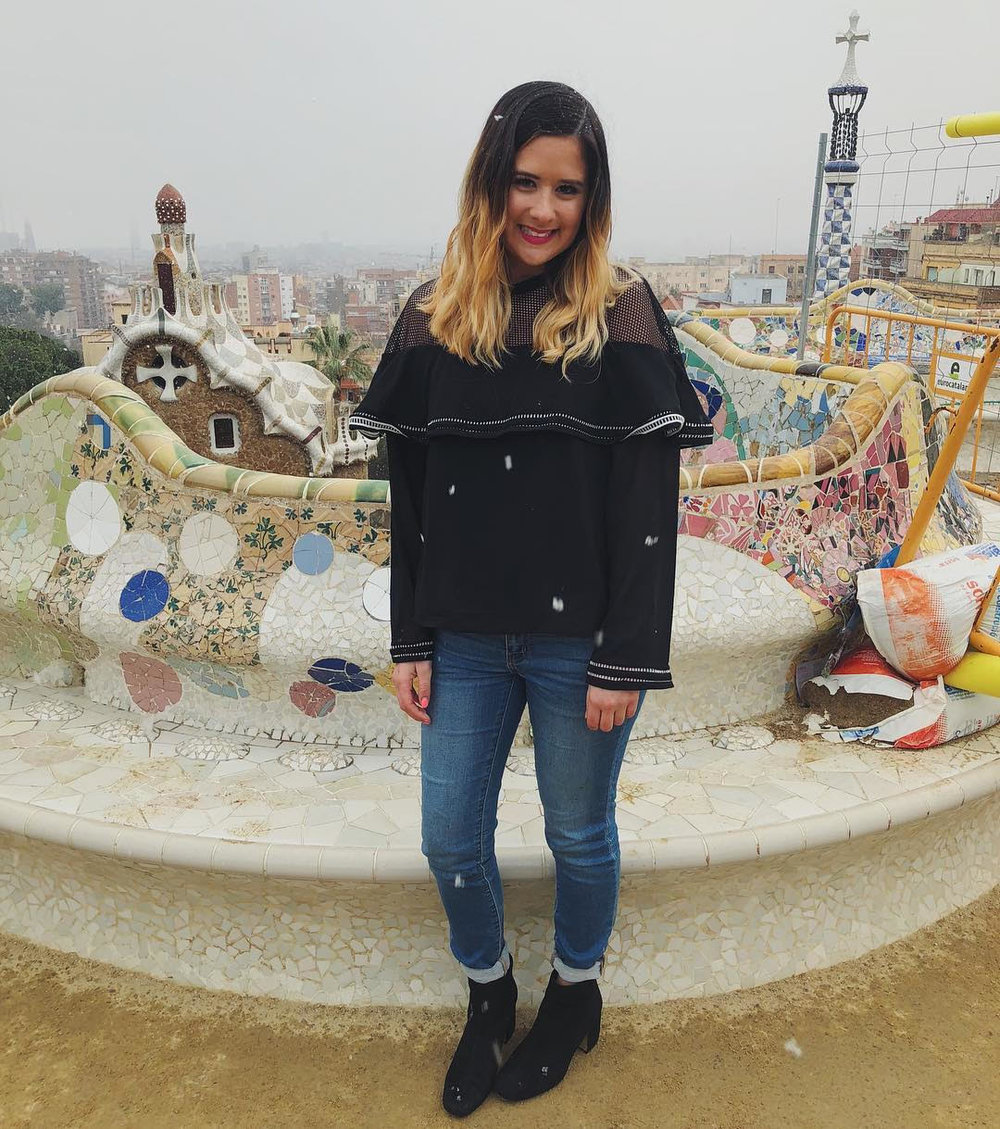 Sierra at Park Güell in Barcelona, Spain on February 27, 2018