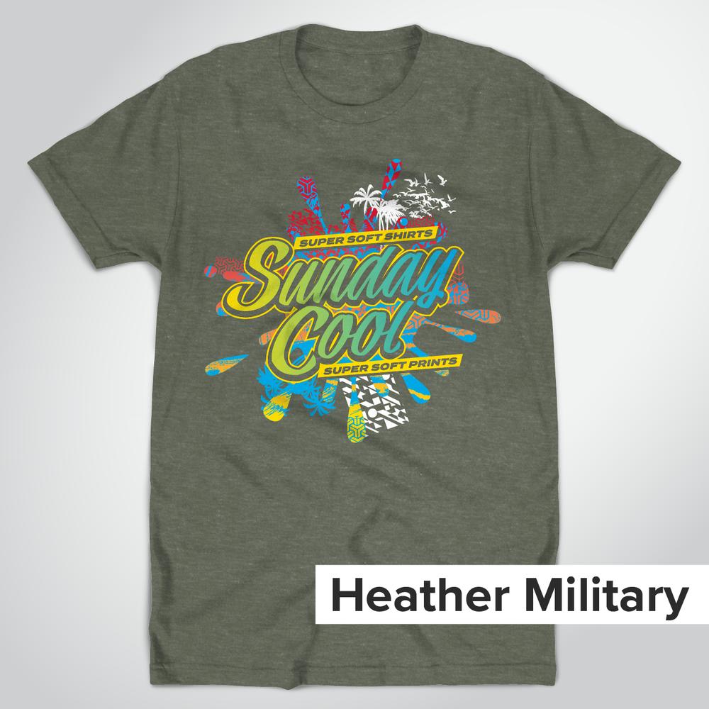 Super Soft Heather Military Green