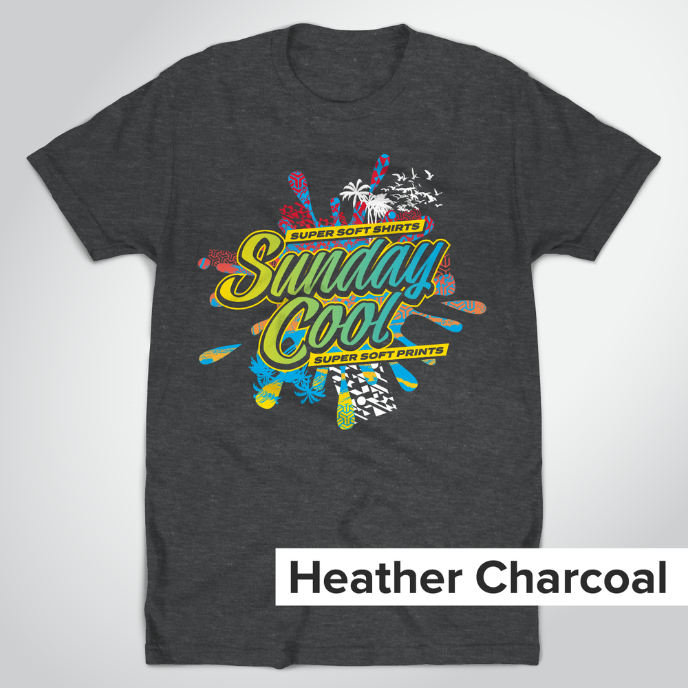 Tultex 202 Heather Charcoal