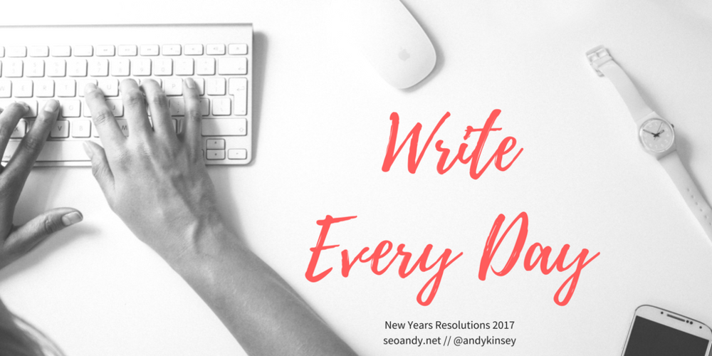 write new content every day