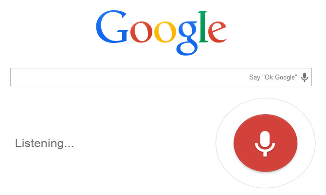 search by voice on google