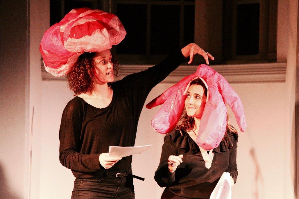 Bella Heesom explains the intricacies of my clitoris. Theatre Delicatessen.