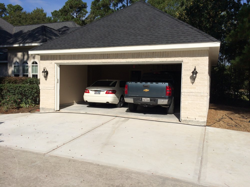 Homeowner wanted to create a game room for the grand kids in existing garage; tearing out old driveway and then pour new driveway with a new adjoining garage.