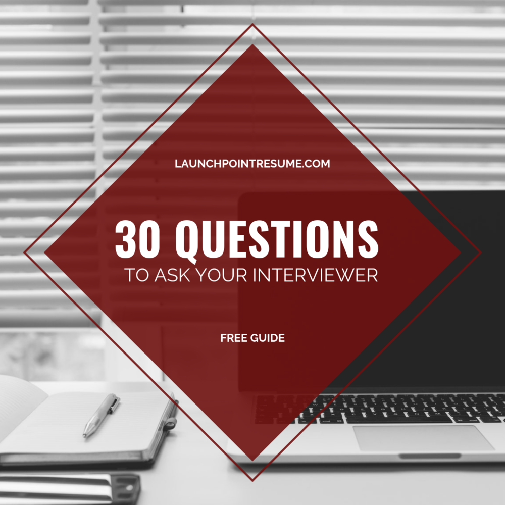 30 QUESTIONS TO ASK YOUR INTERVIEWER