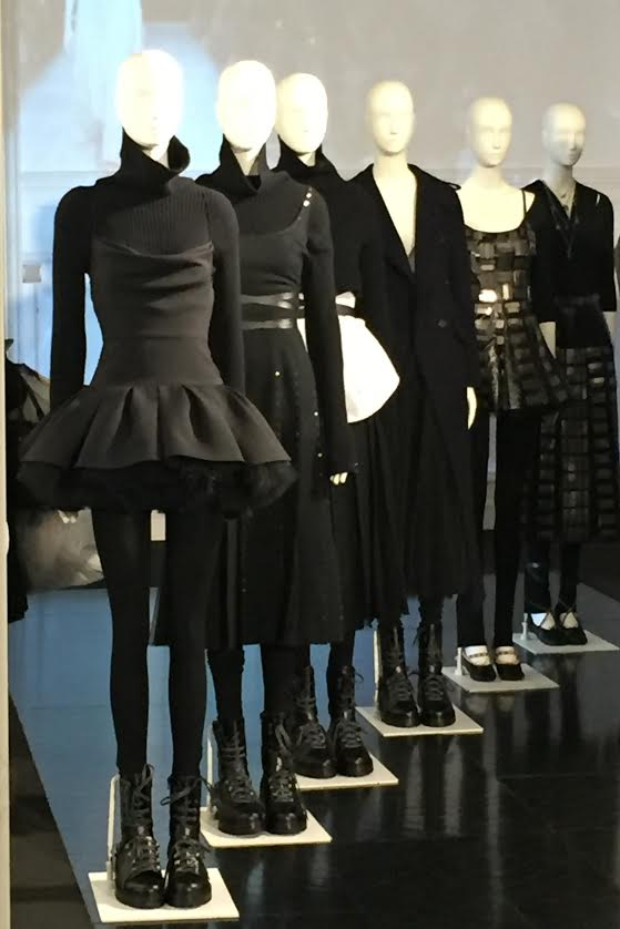 Love the layering of dresses and tutus over black turtlenecks and leggings.