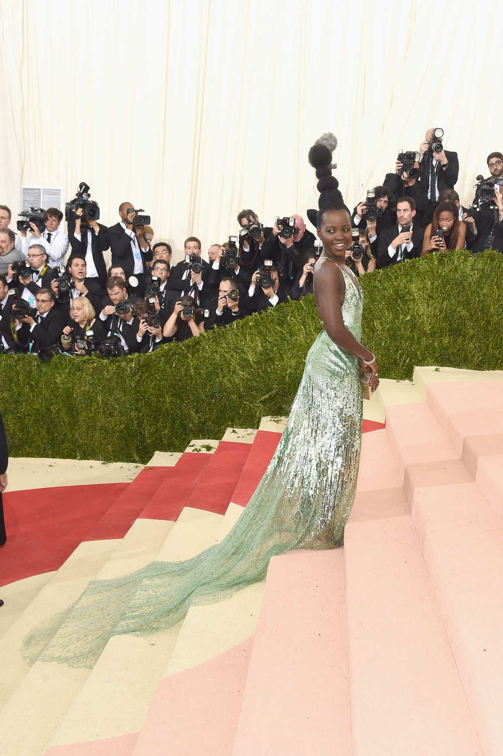 Lupita Nyong'o in Calvin Klein at the Met Gala 2016.