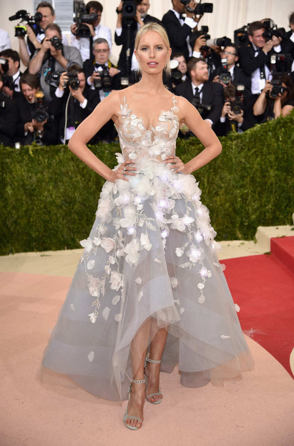 Karolina Kurkova in Marchesa at the Met Gala 2016.