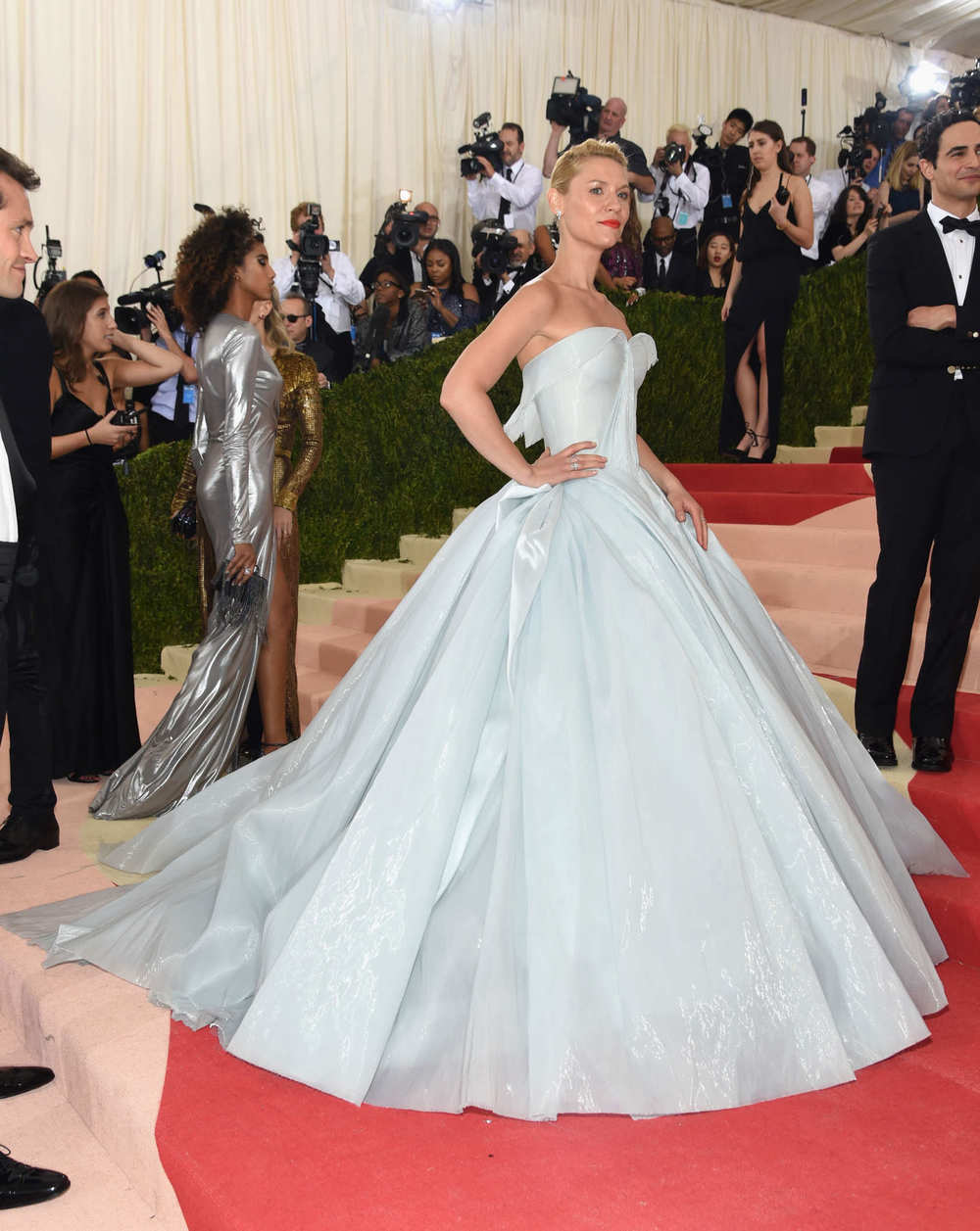 Claire Danes in Zac Posen at the Met Gala 2016.