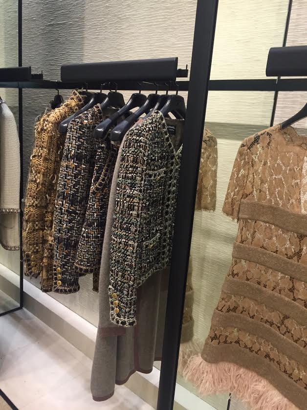 Chanel Pre Fall 2016 collection - Rich tweed was seen in pantsuits, dresses, and outerwear