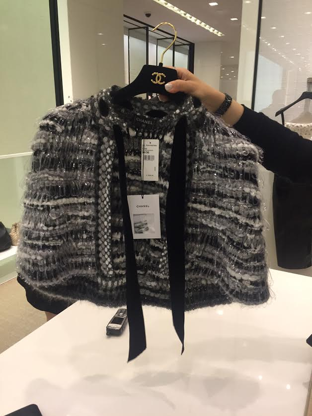 A Chanel cape from the Chanel Pre Fall 2016 collection.