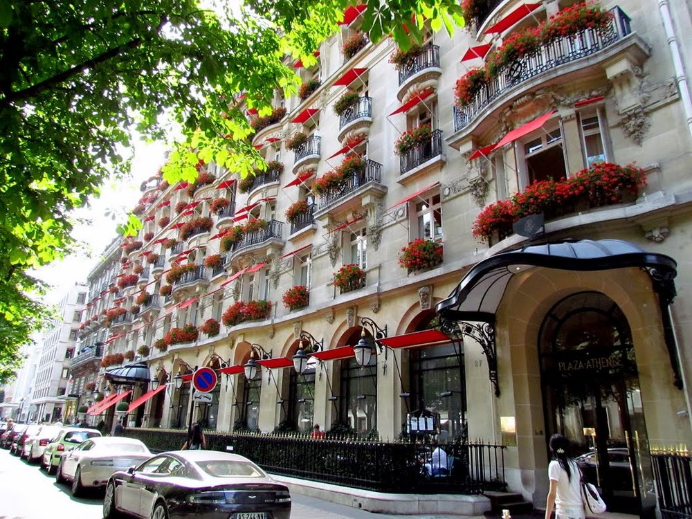 We stayed at the Hotel Plaza Athenee Paris
