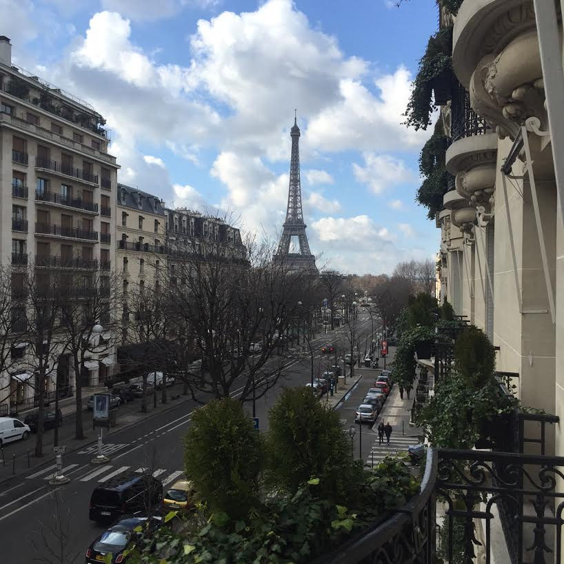 Paris Fashion Week Chanel Fall 2016 - View of the Eiffel Tower from our room!