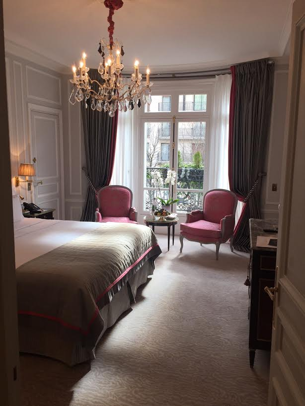 Paris Fashion Week Chanel Fall 2016 - Gorgeous hotel room in Paris.