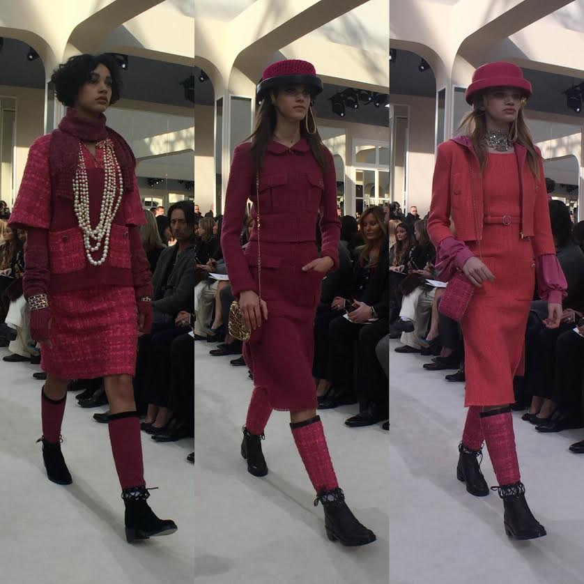 Paris Fashion Week Chanel Fall 2016 - Shades of pink, fuchsia, and magenta dominated the collection