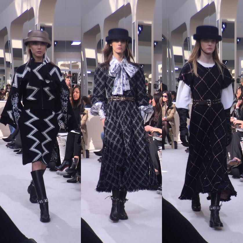 Paris Fashion Week Chanel Fall 2016 - Models wore flat-top hats like those Coco was known to wear