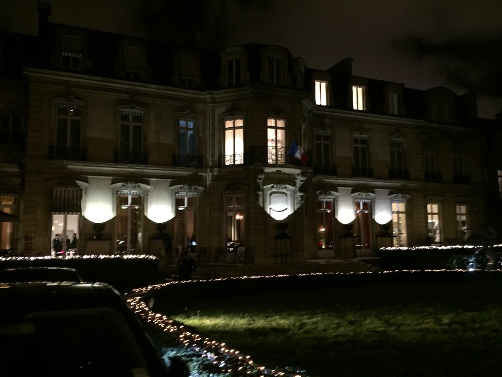 This once private residence now hosts special dinners and events, like the dinner we attended for Louis Vuitton after the show.My LV outfit for dinner!