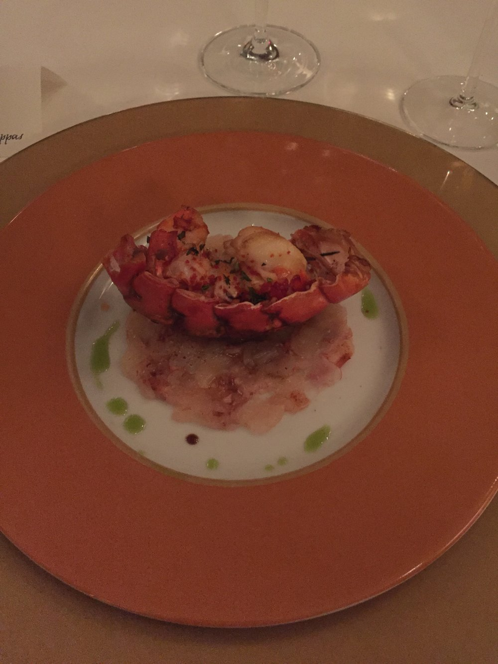 Lobster for dinner during Paris Fashion Week 2016.