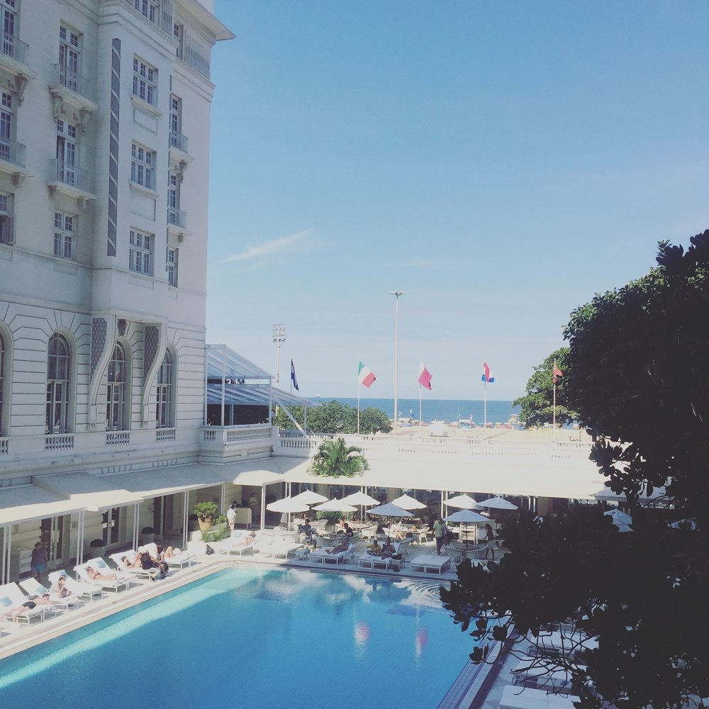 View from the Belmond Copacabana Palace