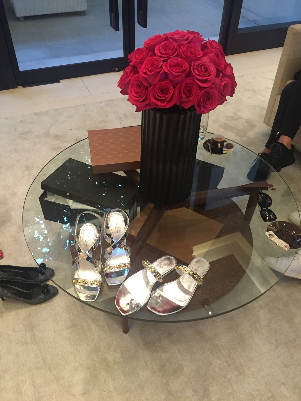 Louis Vuitton Cruise 2017 Rio de Janeiro - After our spa appointments, we headed to the Louis Vuitton Rio Ipanema store for a little shopping! A few items, like these beautiful sliver shoes, are only available in this store.