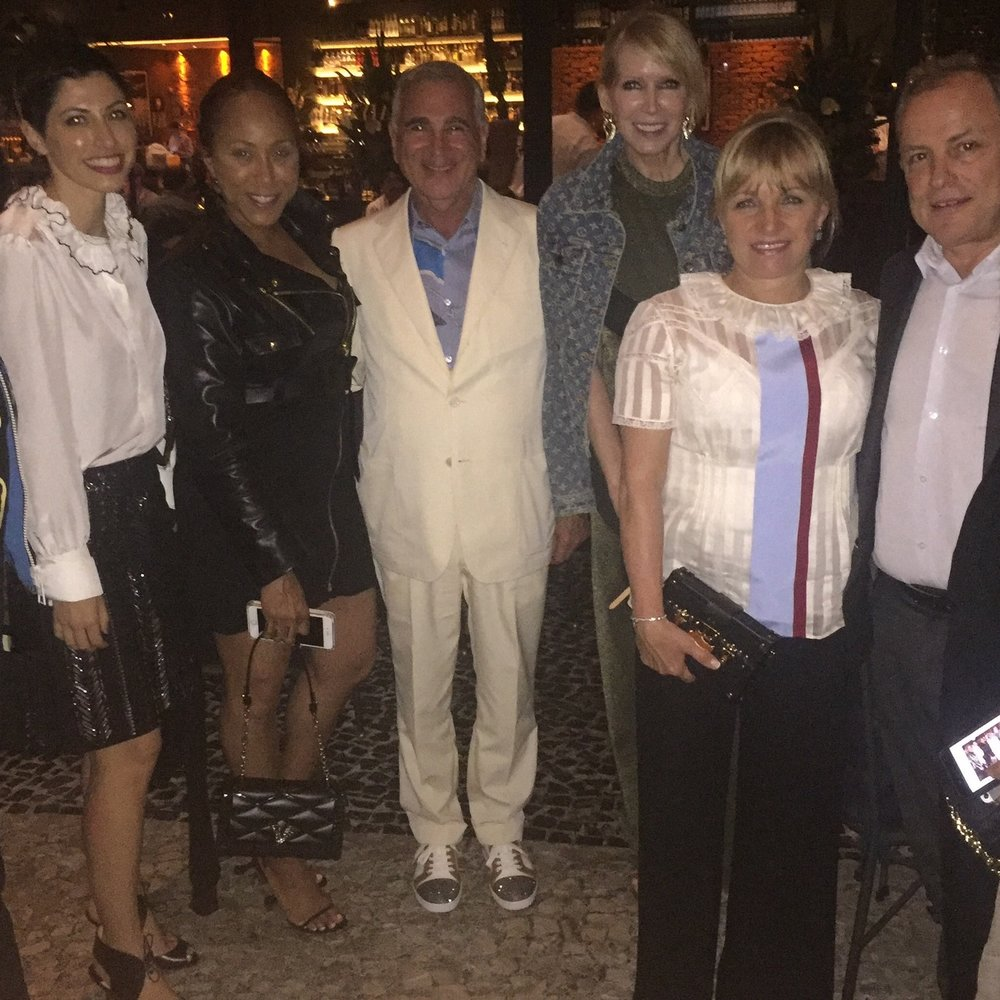Louis Vuitton Cruise 2017 Rio de Janeiro - My table for dinner! I was honored to sit by the CEO of Louis Vuitton and his wife.