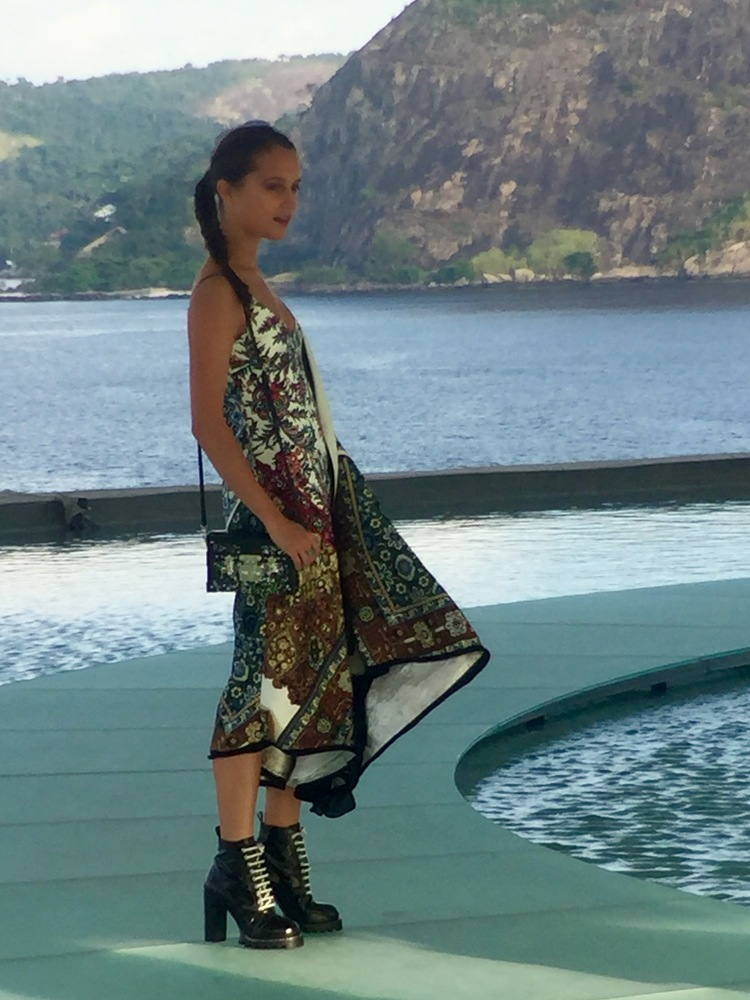 Louis Vuitton brand ambassador Alicia Vikander at the Louis Vuitton Cruise 2017 fashion show in Rio de Janeiro.