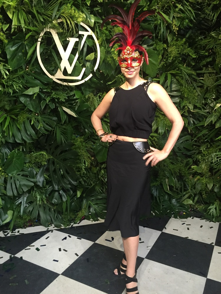 Chrisa Pappas at the Louis Vuitton Cruise 2017 fashion show afterparty in Rio de Janeiro - Photo booth fun!