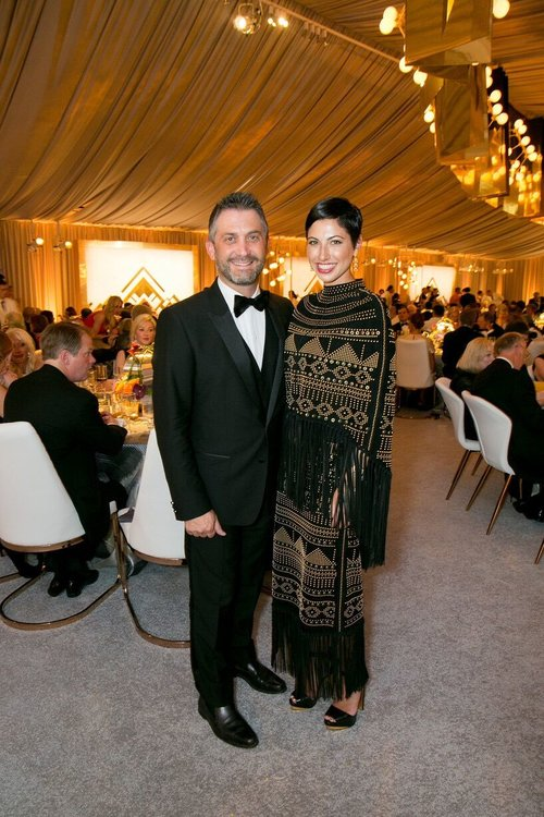 Chrisa Pappas with her husband at the San Francisco Symphony Opening Night Gala.