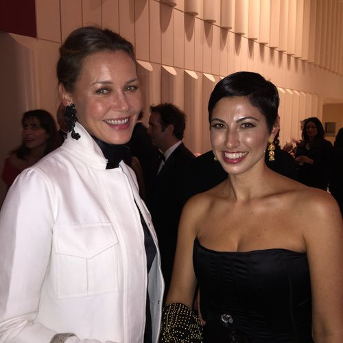 Chrisa Pappas with actress Connie Nielsen at the San Francisco Symphony Opening Night Gala.