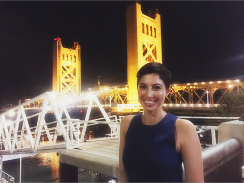 Chrisa Pappas at the Tower Bridge Dinner in Sacramento.