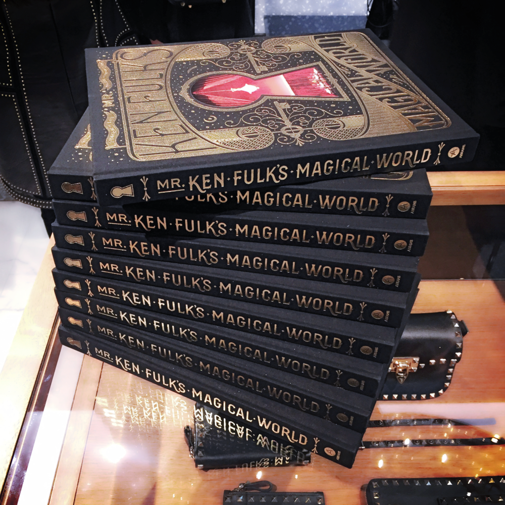 A stack of Ken Fulk's Magical World books.