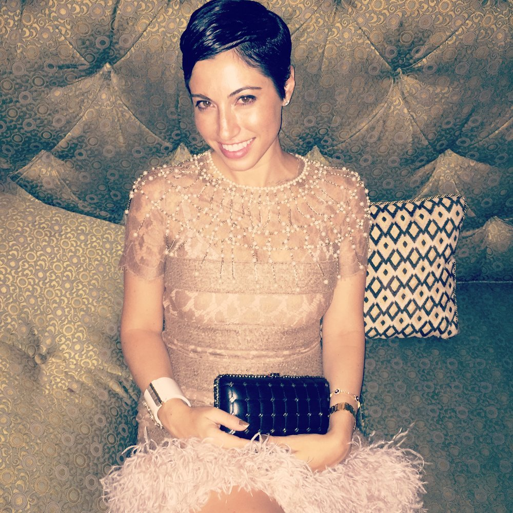 Chrisa Pappas at the Chanel Cuba Party at Chateau Marmont.