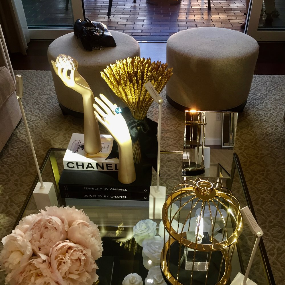 Chanel jewelry on display